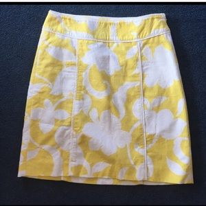 Ann Taylor Yellow Pencil Skirt